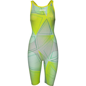 arena R-EVO ONE Full Body Short Leg Open Back Suit LTD Edition 2019 Women, green glass